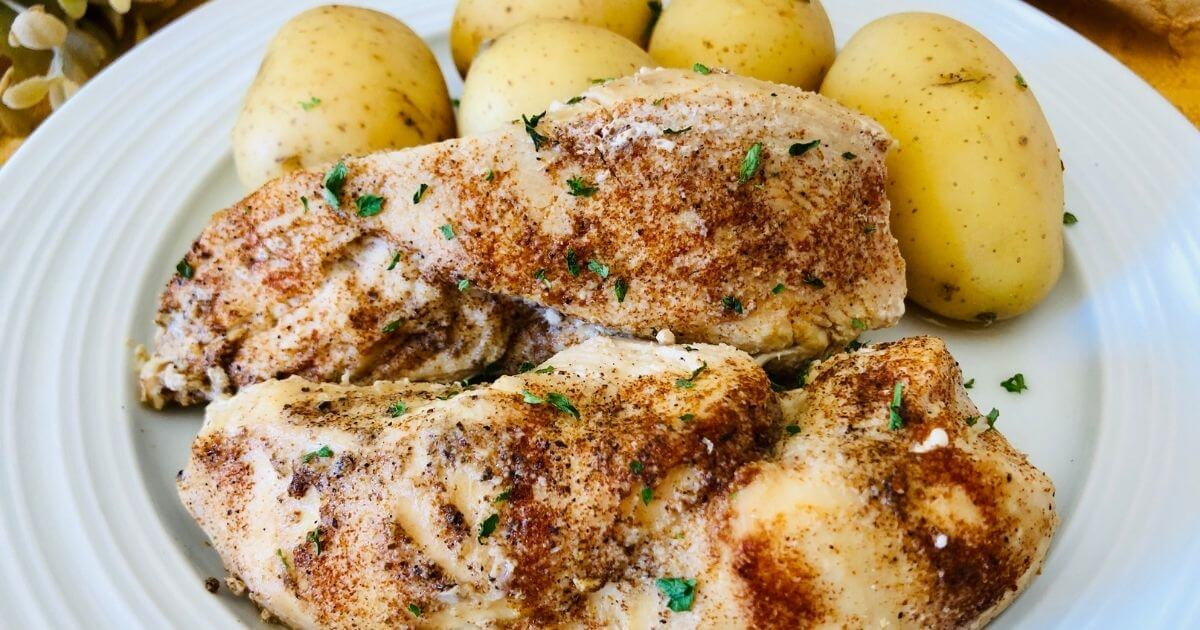 instant pot garlic chicken thighs with potatoes