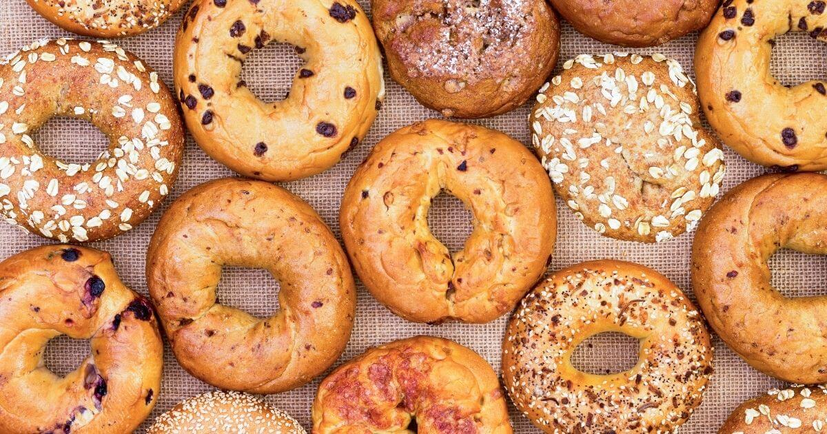 lots of the best gluten free bagels